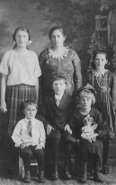 Eva Fritzler and her Children Clockwise: Mollie, Eva, Emma, Anna, Carl Jr., and Eddie
