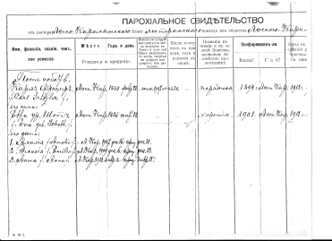 Karl and Eva Fritzler docs to immigrate from Russia - 1