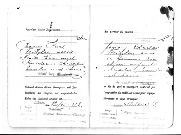 Karl and Eva Fritzler docs to immigrate from Russia - 2