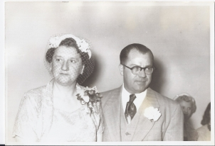 Alex and Mollie Fritzler Kaiser, circa 1951 This photo was taken either in Fond du Lac or Milwaukee at their son's wedding.